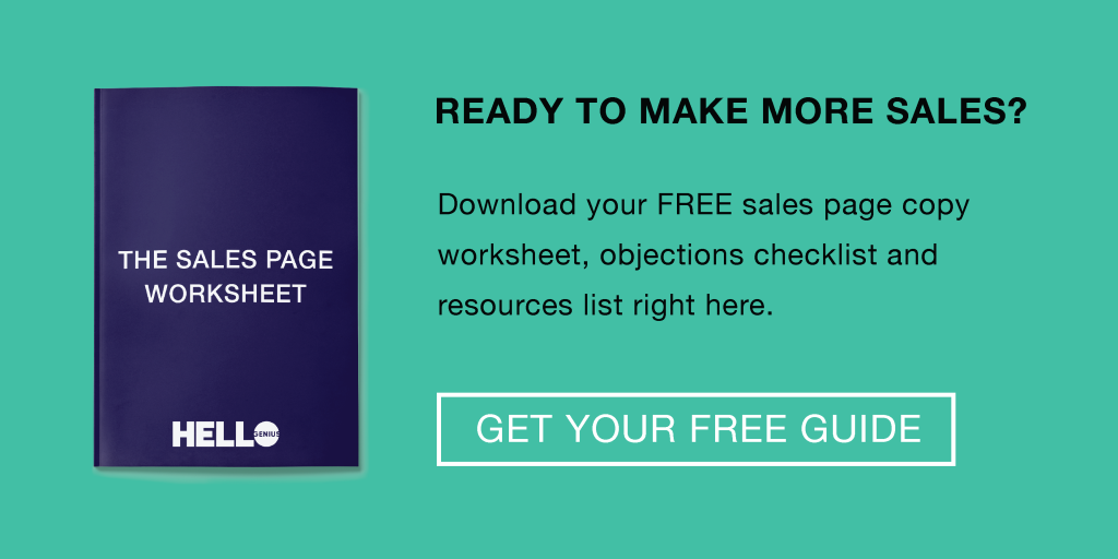 Download Your Free Sales Page Worksheet